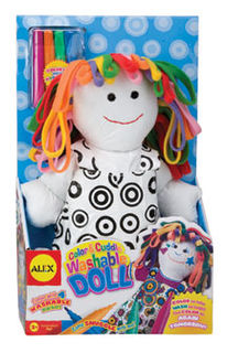Alex Colour & Cuddle Washable Doll