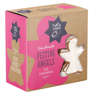 Molly Woppy Festive Angels Iced Gingerbread 120g Box