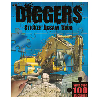 Diggers Sticker Jigsaw Book