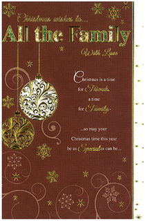 Christmas Card: Christmas Wishes to All The Family