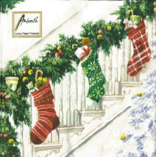 Ambiente Serviettes - Xmas Stockings