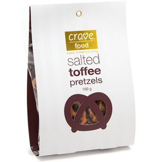 Crave Food Salted Toffee Pretzels (100g)