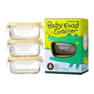 Glasslock 3 Piece Baby Food Container Set