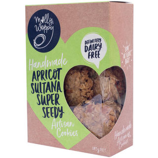 Molly Woppy Apricot Sultana Super Seedy Artisan Cookies 185g