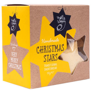 Molly Woppy Shortbread Christmas Stars Festive Box 130g