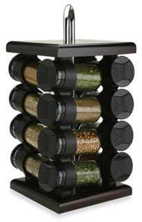 Olde Thompson 16 Jar Square Carousel Spice Rack