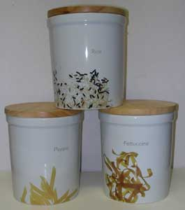Benchmark Pasta & Rice Storage Canister Set
