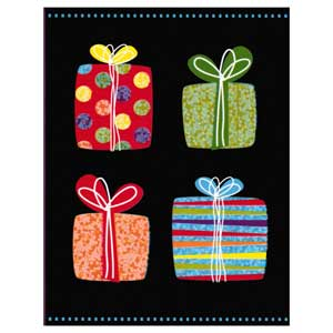 Gift Card: Black with Presents