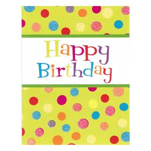 Gift Card: Happy Birthday (Dots)