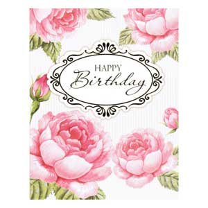 Gift Card: Happy Birthday (Roses)