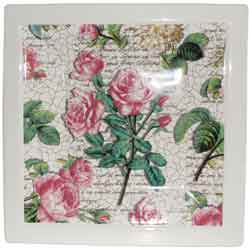 Rose Platter Square (Large)