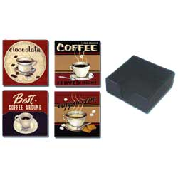 Coasters - Set of 4 (Coffee)