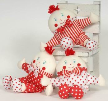 Red and White Master Humpty Rattle