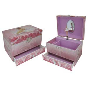 Musical Jewellery Box with Ballerina Design