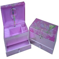 Musical Jewellery Box with Drawer - Fairy Design