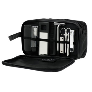 Mens Dual Pocket All-Inclusive Grooming Travel Set