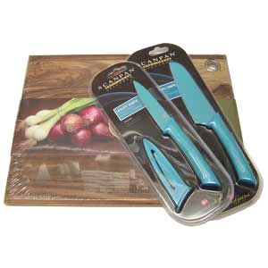 Scanpan Spectrum Knife & Chopping Board Set