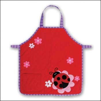 Junior Chef Quilted Apron - Ladybug