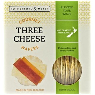Rutherford & Meyer Gourmet Wafers - Three Cheese 120g