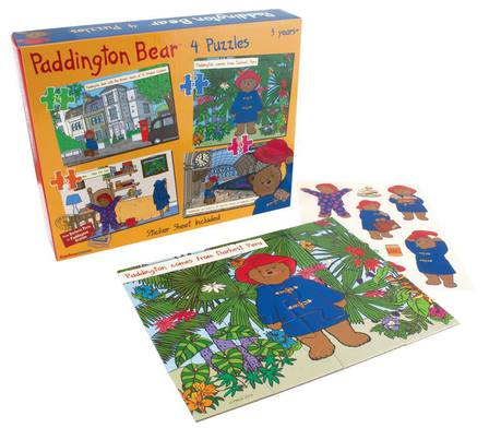 Paddington Bear Jigsaw Puzzle - 4 Puzzles in 1