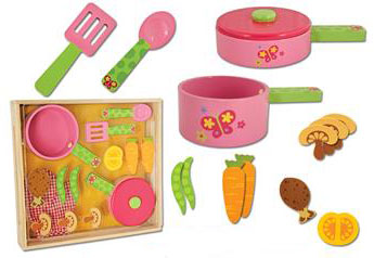Stephen Joseph Wooden Cook Set