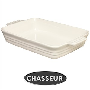 Chasseur La Cuisson Large Rectangular Baker - Antique Cream