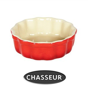 Chasseur La Cuisson Round Flan Dish 12cm - Red