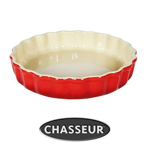 Chasseur La Cuisson Round Flan Dish 20cm - Red