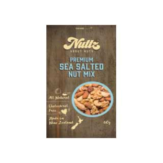 Nuttz Premium Sea Salted Nut Mix 60g