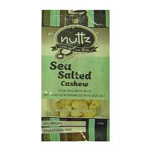 Nuttz Sea Salted Cashews 50g