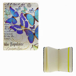 Journal Lined - Blue Butterflies