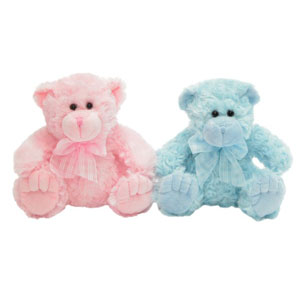 Teddy Bear - Georgie 35cm Blue or Pink