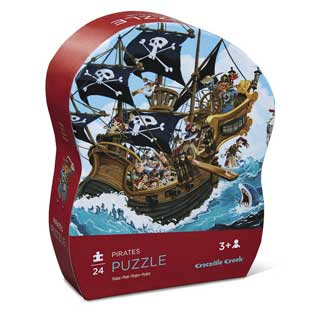 Crocodile Creek Pirates Puzzle 24pc