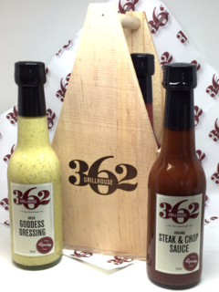 362 Grillhouse BBQ Caddy and Sauces