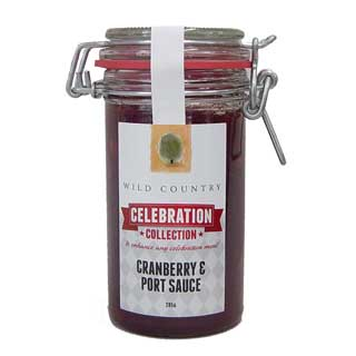 Wild Country Cranberry, Orange and Port Sauce 285g