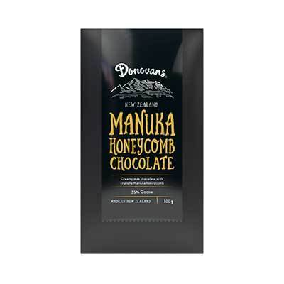 Donovans Manuka Honeycomb Chocolate Bar 100g