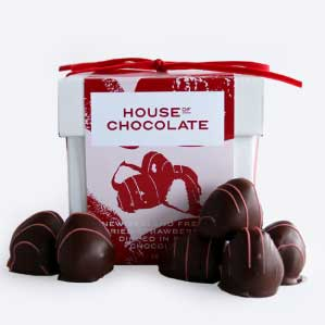 Chocolate-Dipped Strawberries Gift Box (100g)
