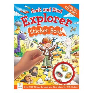 Book: Seek and Find Explorer Sticker Book