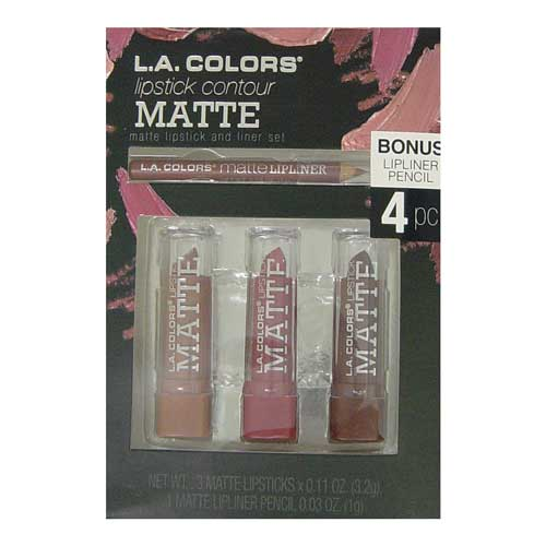LA Colours Lip Contour Matte Lipstick Set: Browns