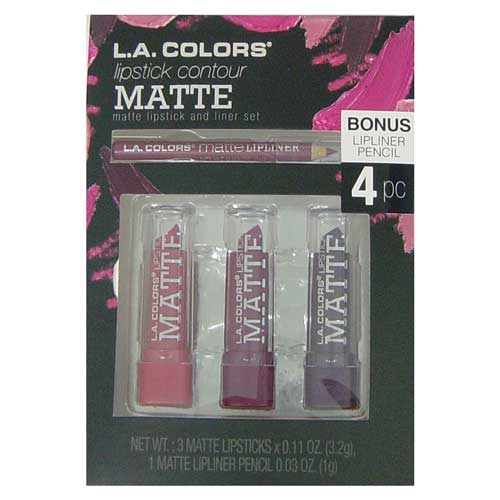 LA Colours Lip Contour Matte Lipstick Set: Pinks