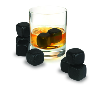 Avanti Whiskey Rocks - Black Granite Set of 9