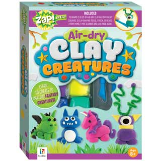 Zap! Air-Dry Clay Creatures