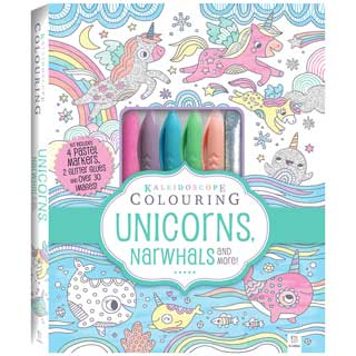Kaleidoscope Colouring Kit: Unicorns, Narwhals and More