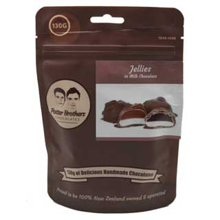 Potter Brothers Chocolates: Jellies in Milk Chocolate 130g