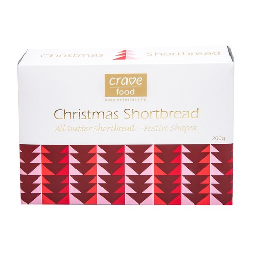 Crave Food Christmas Shortbread 200g