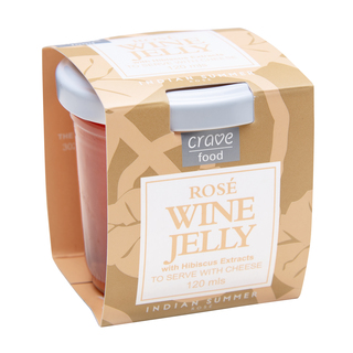 Crave Food Rosé Wine Jelly 120ml