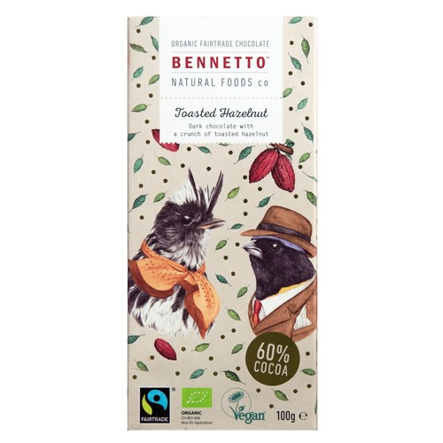 Bennetto Chocolate: Toasted Hazelnut 100g