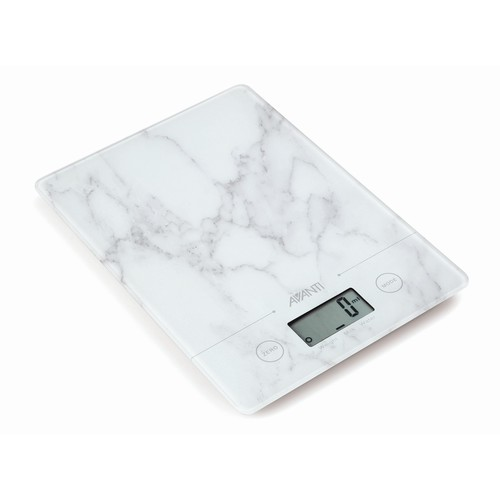 Avanti Compact Kitchen Scale - White Marble