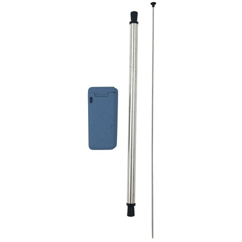 Avanti Collapsible Stainless Steel Straw - Blue