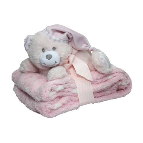 Snuggles Baby Bear with Blanket - Pink
